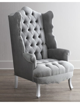 Isabella Chrome Wing Chair by Haute House
