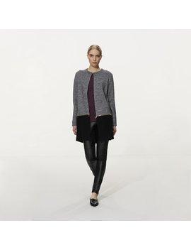 Karl Lagerfeld Paris Mixed Tweed Longline Jacket Karl Lagerfeld Paris Mixed Tweed Longline Jacket by Long Tall Sally