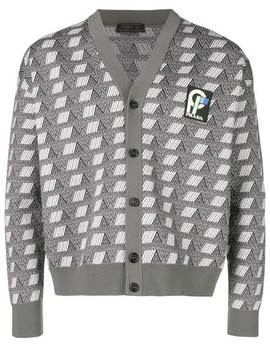 Logo Embroidered Cardigan by Prada