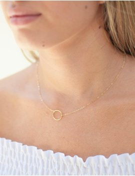 Gold Circle Necklace   Eternity Necklace   Karma Necklace   Layering Necklace   Delicate Necklace   Dainty Necklace   Gift For Her by Etsy