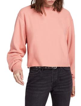 Navarre Raw Hem Crop Sweatshirt by Allsaints