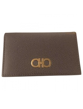 Leather Card Wallet by Salvatore Ferragamo