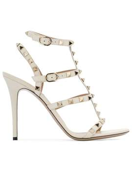 Rockstud Embellished Strappy Heels by Valentino