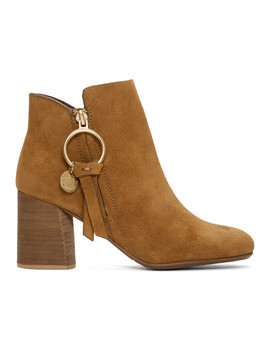 Tan O Ring Louise Ankle Boots by See By ChloÉ