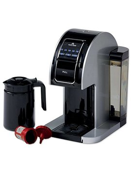 Touch Plus Single Serve Coffee Brewer W/ Jumbo Cup & Carafe   Black / Silver Coffee Maker With Full K Cup Pod Compatibility & Rapid Brew Technology   T526 S by Touch Coffee & Beverages