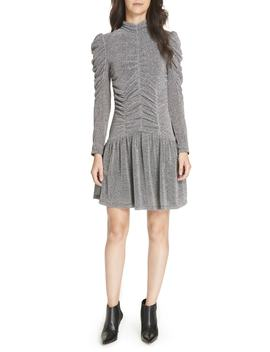 Gathered Metallic Jersey Dress by Rebecca Taylor