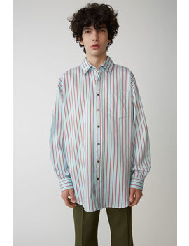 Oversized Shirt Blue/Red by Acne Studios