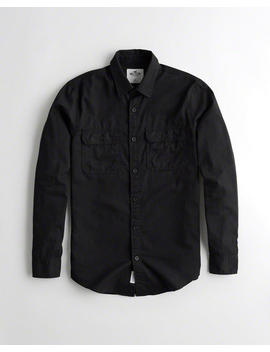 Twill Utility Shirt by Hollister
