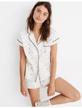 Flannel Bedtime Pajama Set In Starscape by Madewell