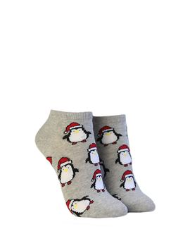 Christmas Penguin Print Socks by Forever 21