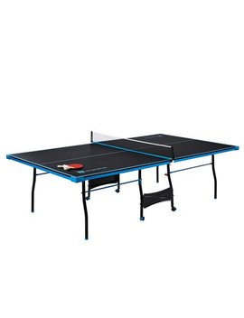 Md Sports Official Size Table Tennis Table, With Paddle And Balls, Black/Blue by Md Sports
