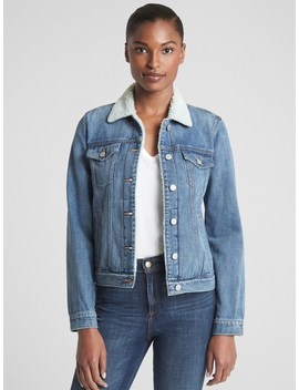 Sherpa Icon Denim Jacket by Gap