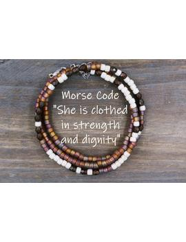 Proverbs 31 Bracelet / She Is Clothed In Strength And Dignity Jewelry / Inspirational Gift For Her / Dainty Bracelet / Personalized Gift by Etsy