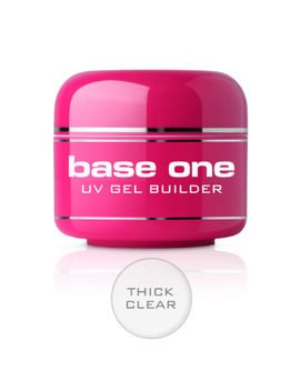 Base One Clear W4 Diamond Touch Thick French Pink Uv Gel Nail Builder Silcare by Silcare