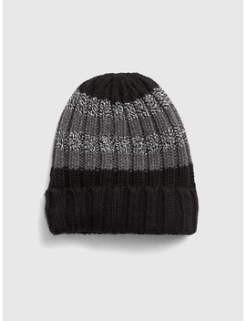 Colorblock Stripe Beanie In Wool Blend by Gap