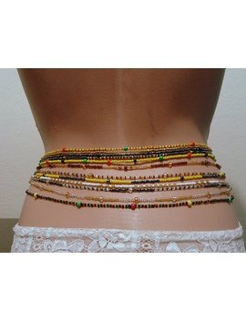 Handmade Waist Bead, Body Jewelry, Belly Beads, African Waist Beads, Sexy Jewelry, Custom Colors Order by Etsy