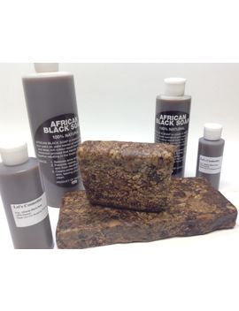 100 Percents Natural Raw African Black Soap Bar Organic Unrefined Ghana 4 Oz To 1 Lb by Ebay Seller