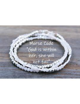 God Is Within Her She Will Not Fail Bracelet, God Within Her, Christmas Gift From Godmother Gift For Goddaughter Gifts, Gift From Godfather by Etsy