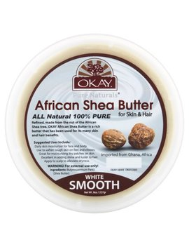 Okay Pure Naturals White Smooth African Shea Butter, 8 Oz by Okay
