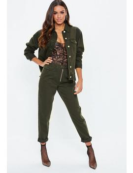 Khaki Oversized Boyfriend Jacket by Missguided