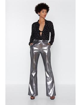 Metallic Flared Pants by Nasty Gal