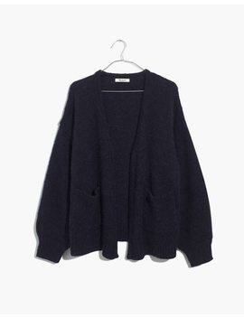 Fuzzy Balloon Sleeve Cardigan Sweater by Madewell