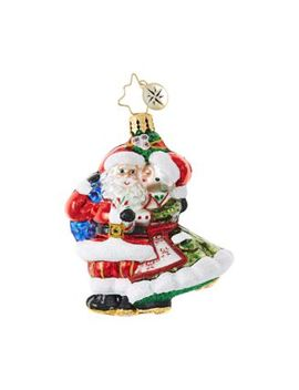 Mr. & Mrs. Mistletoe Little Gem Ornament by Christopher Radko