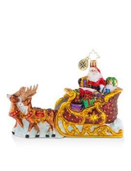 Stellar Ride, Santa! Ornament by Christopher Radko