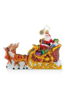 Stellar Ride, Santa! Ornament by Christopher Radko