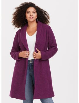 Pink Hacci A Line Coat by Torrid