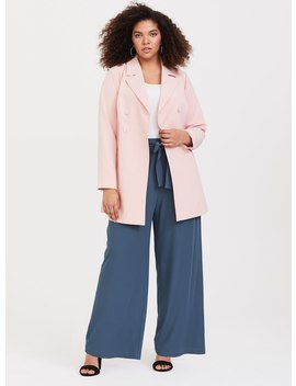 Pink Crepe Trench Coat by Torrid