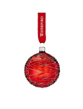 Brights Red Dunmore Ball Ornament by Waterford