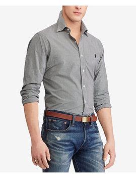 Men's Slim Fit Check Poplin Shirt by Polo Ralph Lauren