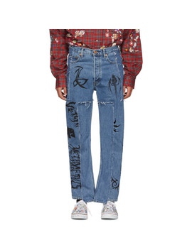 Blue Levi's Edition Tribal Jeans by Vetements