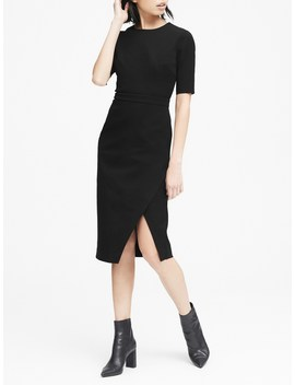 Bi Stretch Short Sleeve Sheath Dress by Banana Repbulic