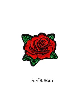 Shen Pr Rose Flower Embroidered Sew Iron On Patch Badge Collection Fabric Bag Clothes Applique Trim by Shen Pourtor Patches