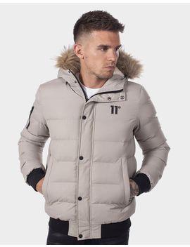 11 Degrees Fur Trim Bubble Jacket by 11 Degrees