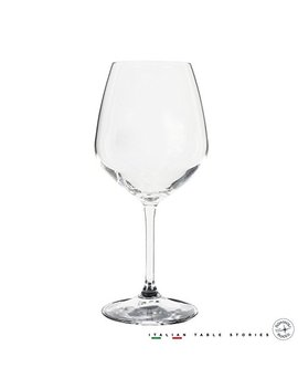Bormioli Rocco 18oz Red Wine Glasses (Set Of 4): Crystal Clear Star Glass, Laser Cut Rim For Wine Tasting, Lead Free Cups, Elegant Party Drinking Glassware, Dishwasher Safe, Restaurant Quality by Bormioli Rocco