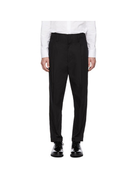 Black Cropped Pleated Trousers by 3.1 Phillip Lim