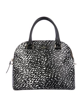Leather Trimmed Printed Satchel by Kate Spade New York