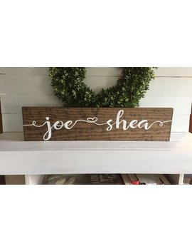 First Name Sign   Engagement Sign   Bride And Groom Name Sign   Custom Sign   Wooden Sign   Wood Sign by Etsy