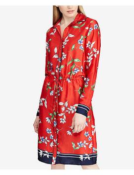 Floral Print Twill Shirtdress by Lauren Ralph Lauren