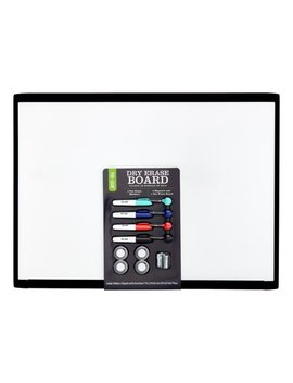 "Pen + Gear Dry Erase Board, 17"" X 23"", Black Plastic Frame by Pen + Gear"