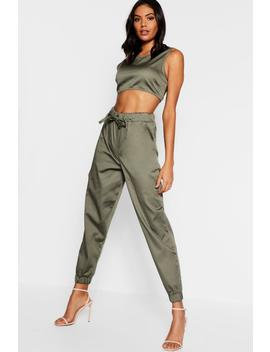 Belted Combat Trouser + Top Co Ord by Boohoo