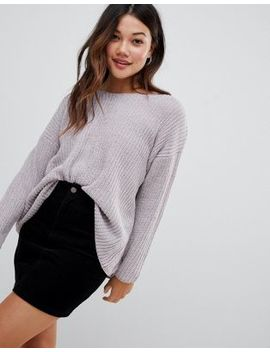 Brave Soul Chenille Jumper With V Neck by Jumper