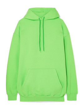 Oversized Cotton Blend Jersey Hoodie by Balenciaga