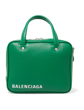 Triangle Square Small Printed Leather Tote by Balenciaga