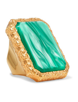 Gold Tone Resin Ring by Balenciaga