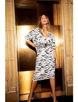 Do You Foal Zebra Midi Skirt by Nasty Gal
