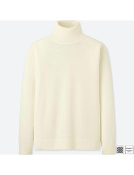 Extra Fine Merino Turtlenec Sweater (Long Sleeve) by Uniqlo